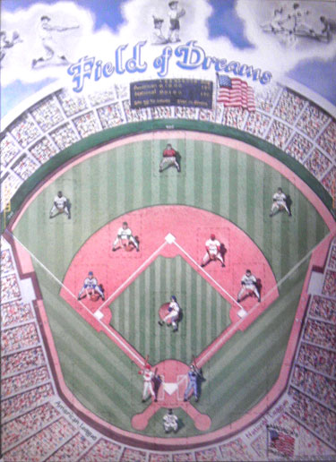 Sports Baseball Poster Card Holder